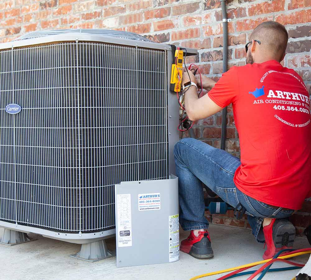 checking refrigerant arthurs hvac tech
